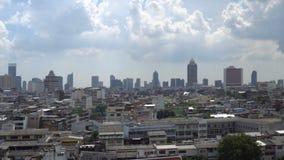 Panorama de Bangkok céntrico, Tailandia almacen de metraje de vídeo