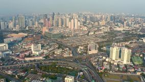 Panorama de Banguecoque em uma noite do verão filme