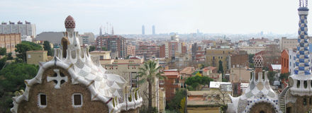 Panorama de Barcelona Fotografia de Stock