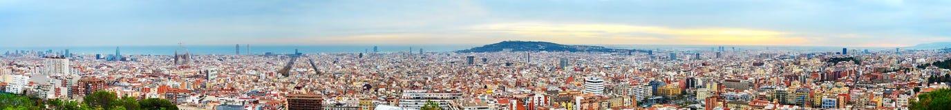 Panorama de Barcelona Imágenes de archivo libres de regalías