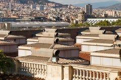 Panorama de Barcelona do nível do telhado Foto de Stock
