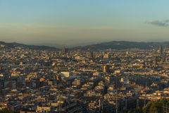 panorama de Barcelone Images stock