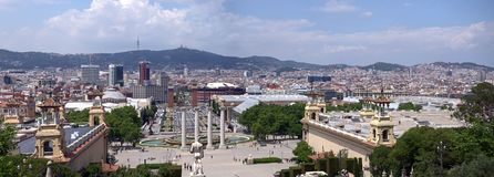 Panorama de Barcelone de point de vue Image stock