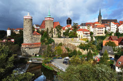 Panorama de Bautzen. l'Allemagne Image stock