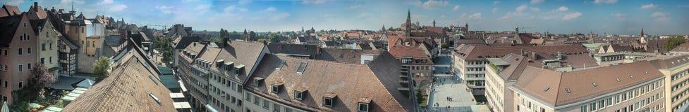 Panorama de Baviera de Nuremberg imagen de archivo libre de regalías