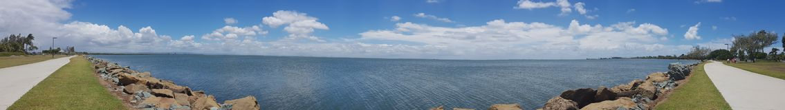 Panorama de Bayside Imagem de Stock Royalty Free