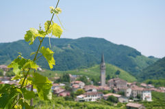 Panorama de beaux paysages de valdobbiadene photo stock