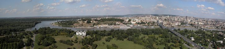 Panorama de Belgrade Photos libres de droits