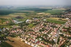 Panorama de Belgrade avec une vue de l'avion Images stock