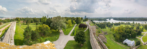 Panorama de Belgrade Kalemegdan Photos stock