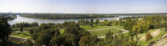 Panorama de Belgrado - Serbia Imagem de Stock Royalty Free