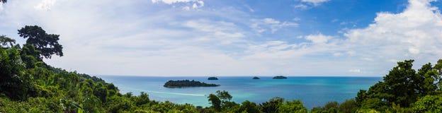 Panorama de belle vue sur Koh Chang Image stock