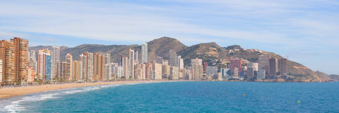 Panorama de Benidorm Images stock