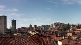 Panorama de Bergamo velho, Itália vídeos de arquivo
