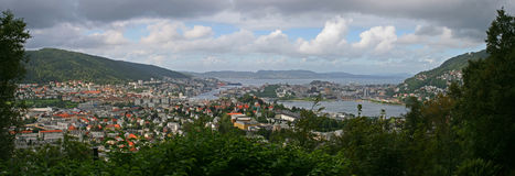 Panorama de Bergen Imagen de archivo