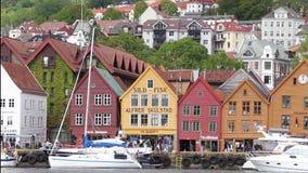 Panorama de Bergen vídeos de arquivo