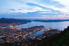 Panorama de Bergen Norway image libre de droits