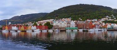 Panorama de Bergen Norway photos stock