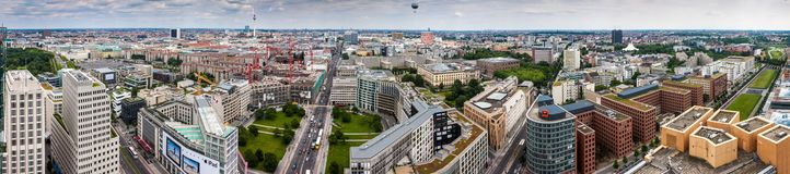 Panorama de Berlim Imagens de Stock Royalty Free