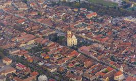 Panorama de Bistrita, Rumania, Europa Imagen de archivo libre de regalías