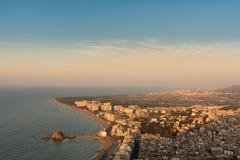Panorama de Blanes, España Imagenes de archivo