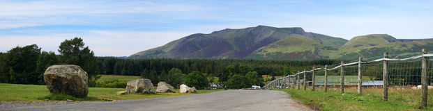 Panorama de Blencathra Photos stock