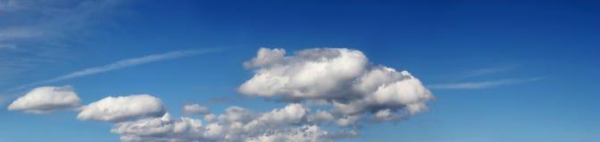 Panorama de bleu de ciel Images libres de droits