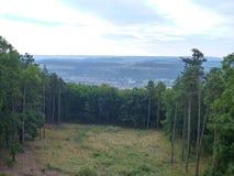 Panorama de Bohemia central de un puesto de observación sobre ciudad del beroun Imagen de archivo libre de regalías