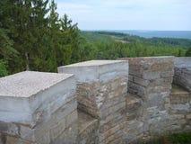 Panorama de Bohemia central de un puesto de observación sobre ciudad del beroun Fotografía de archivo libre de regalías