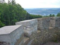 Panorama de Bohemia central de un puesto de observación sobre ciudad del beroun Fotos de archivo