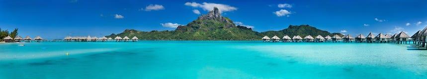 Panorama de Bora Bora Imágenes de archivo libres de regalías