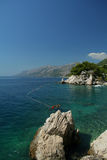 Panorama de bord de la mer Photo libre de droits