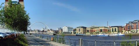 Panorama de bord du quai Image libre de droits