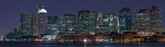 Panorama de Boston Foto de Stock Royalty Free