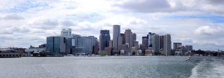 Panorama de Boston de la mer Photo stock