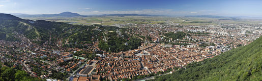 Panorama de Brasov Photographie stock libre de droits