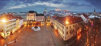 Panorama de Bratislava   Foto de archivo libre de regalías