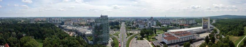 Panorama de Bratislava Fotos de Stock Royalty Free