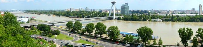 Panorama de Bratislava, Eslovaquia Imagen de archivo libre de regalías