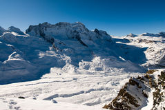 Panorama de Breithorn Fotografía de archivo libre de regalías
