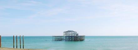 Panorama de Brighton West Pier fotos de stock royalty free