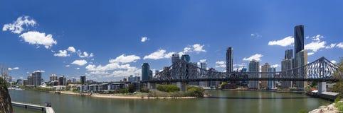 Panorama de Brisbane Fotos de archivo libres de regalías