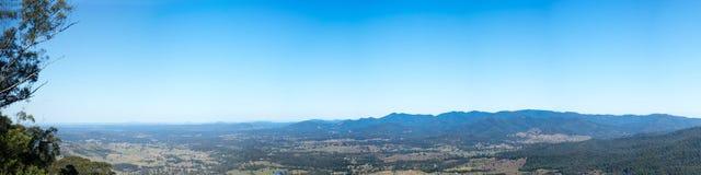 Panorama de Brisbane Australie de chaîne de D Aguilar photo libre de droits