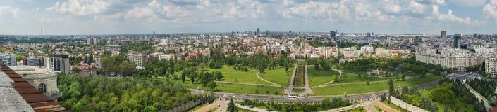 Panorama de Bucarest Imágenes de archivo libres de regalías