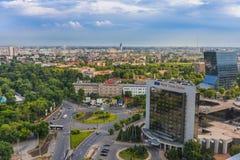 Panorama de Bucarest Imagenes de archivo