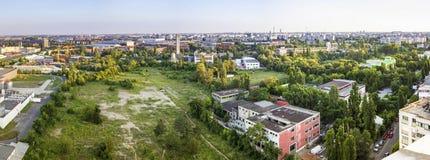 Panorama de Bucareste imagem de stock