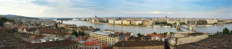 Panorama de Budapest Imagenes de archivo