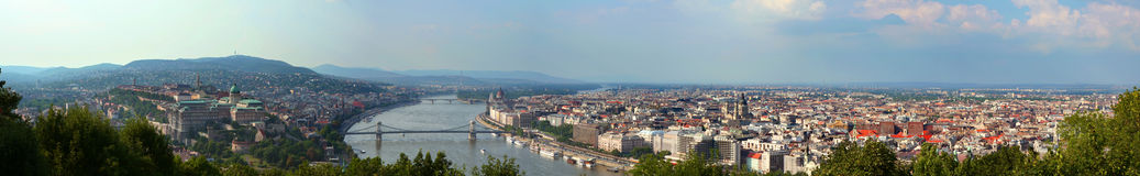 Panorama de Budapest Photos stock