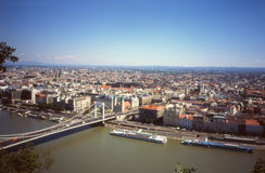 Panorama de Budapest. Photo libre de droits