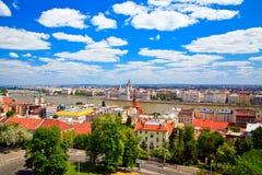 Panorama de Budapest Images libres de droits